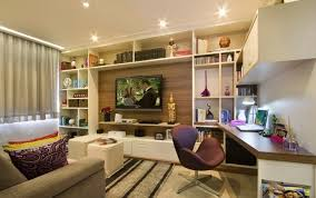 home office with tv cute home office combined with small apartment living room ideas