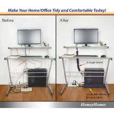 Desk With Cable Management by Cable Management Sleeves