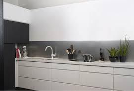 credences cuisines crédence cuisine kitchen wall aluminium brossé