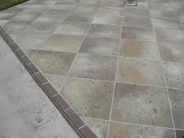 Can You Tile Over Concrete Patio by Concrete Designs Florida Tile Driveway