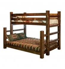 Timber Bunk Bed Solid Barnwood Timber Frame Bunk Beds