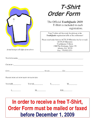 t shirt order form template free template idea