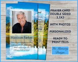 Funeral Card Template Funeral Prayer Card Etsy