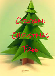 origami christmas tree made from 1 a4 sheet and template 7 steps