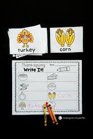 thanksgiving writing centers the kindergarten connection