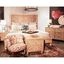 home trends and design reviews home trends and design haveli solid mango wood king bed walmart com