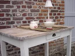 cuisine ceruse blanc table salle a manger bois vieilli meuble tv laqu