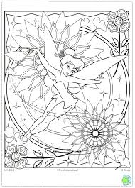 tinkerbell coloring disney coloring pages