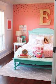 girls bedrooms ideas tattered and inked coral aqua girl s room makeover k i d s