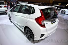 motor honda indonesia honda jazz rs black top rear three quarters left at the indonesia