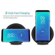 amazon com fast wireless charger seenda 2 coil quick charge qi