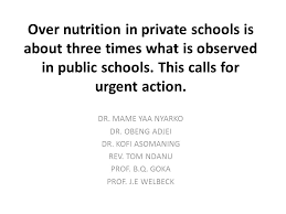 nutrition in schools is about three times what is