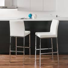 Linon Home Decor Bar Stools Linon Home Decor Stewart 30 In Crystal White Cushioned Bar Stool