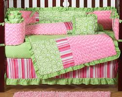 Pink And Green Crib Bedding Boutique Pink And Green Baby Bedding 9pc Crib Set