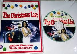 a christmas list dvd the christmas list 1997 dvd mimi rogers rob stewart all regions