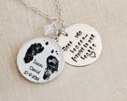 footprint necklace personalized personalized baby footprint necklace baby s actual