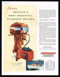 1956 johnson outboard motor ad vintage johnson outboard motor