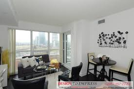 Living Room Staging Downtown Toronto Condo Staging 2220 Lakeshore Blvd