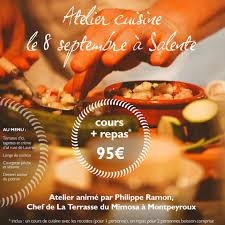 cours de cuisine 95 atelier cuisine avec philippe ramon le 8 septembre