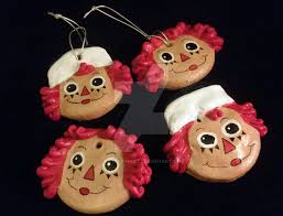 ooak raggedy and andy ornaments for sale by katy8thekat on