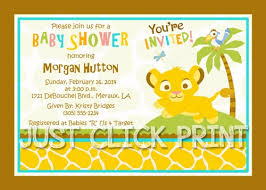 baby lion king baby shower simba lion king baby shower invitation printable digitaldelight