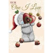 tatty teddy holding large star me to you bear christmas card 1 79