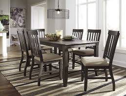 side chairs for dining room dresbar grayish brown rectangular dining room table 6 uph