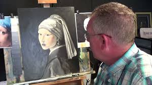 painting girl with a pearl earring girl with the pearl earring 3 acrylic painting for beginners