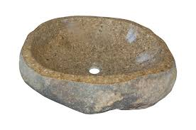 eden bath s019rr p natural river rock boulder sink polished