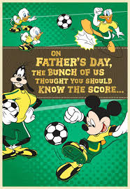 s day mickey mouse mickey mouse soccer field s day card from grandchildren