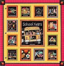 school memories album new seasons school years book album chalkboard 24 pocketfuls