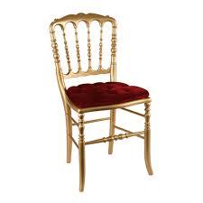 chaise dorée chaise napoléon iii dorée fixe velours options location
