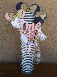 Pink And Black Minnie Mouse Decorations Tickle Me Pink Punch For Minnie Mouse Theme Part Label Made From