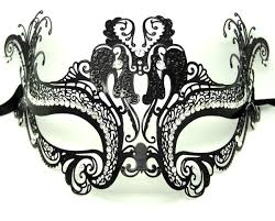 metal masquerade mask filigree butterfly masquerade mask