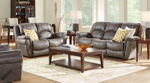 Gray Recliner Sofa Corbin Gray 2 Pc Living Room With Reclining Sofa Living Room