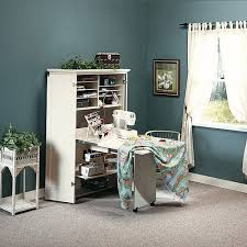 sewing armoire sauder harbor view craft armoire antiqued white walmart com