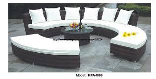 canapé circulaire circulaire arc canapé demi rond meubles santé pe rotin meubles de