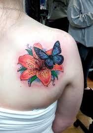 flower and butterfly com tattoosbybecky