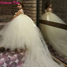 aliexpress com buy white ivory princess tutu dress tulle flower