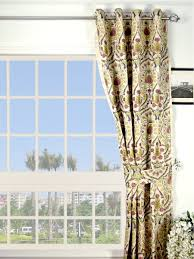 silver beach embroidered colorful damask grommet faux silk curtains