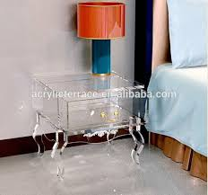 clear plastic bedside table nightstand creative lucite nightstand design acrylic bedside table