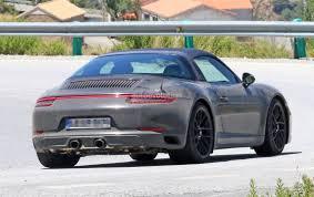 porsche targa 2017 2017 porsche 911 targa gts revealed in spyshots with black roof
