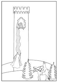 accompany grimm u0027s fairytale rapunzel colouring sheet kids
