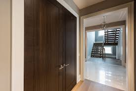 modern interior doors wood veneer solid core custom glenview