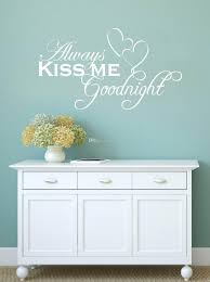 always goodnight hearts wall decal decor love words