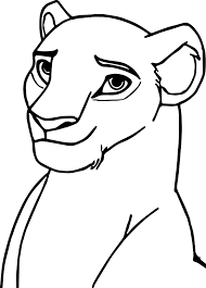 sarafina lion king face coloring page wecoloringpage