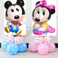 shop 11pcs lot mickey minnie mouse foil upright balloons