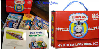 thomas friends red railway book box 4 books