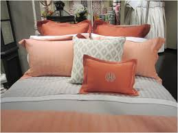 comforters ideas awesome orange and gray comforter set stunning