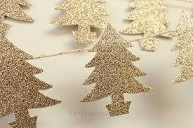 glitter tree garland
